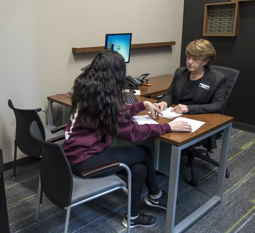 A tax preparer advising a client