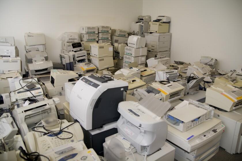 Printers-in-storeroom