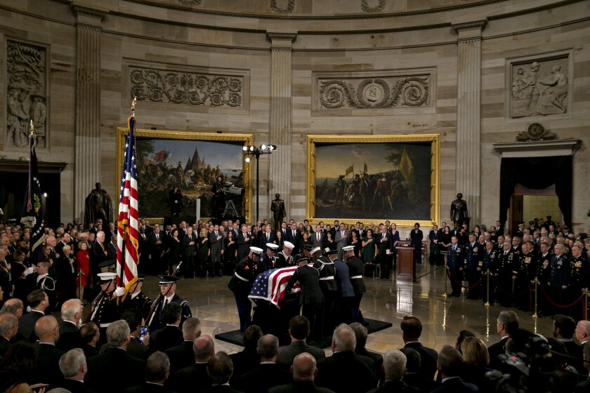 George H.W. Bush's funeral in the Capitol