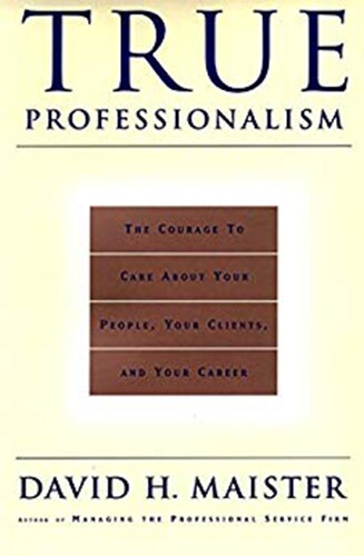 Book cover - True Professionalism