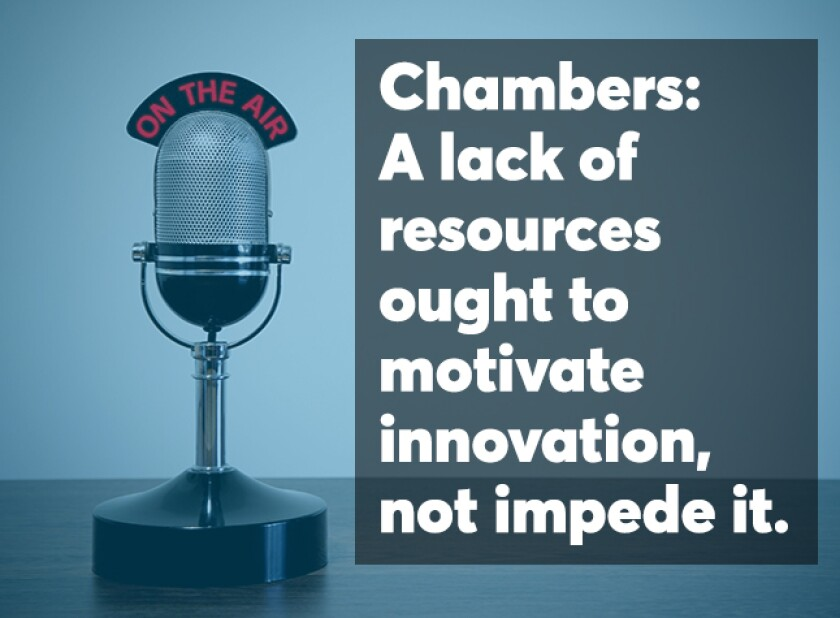 Chambers podcast screen