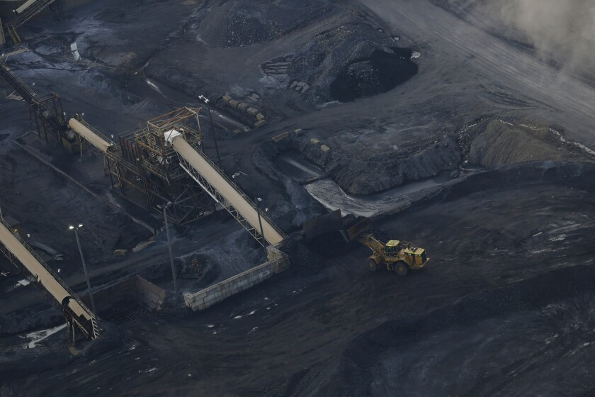The Peabody Energy Somerville Central mine preparation plant stands in this aerial photograph taken above Oakland City, Indiana.