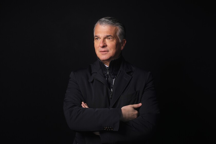 Sergio Ermotti UBS CEO at Davos in black Bloomberg News