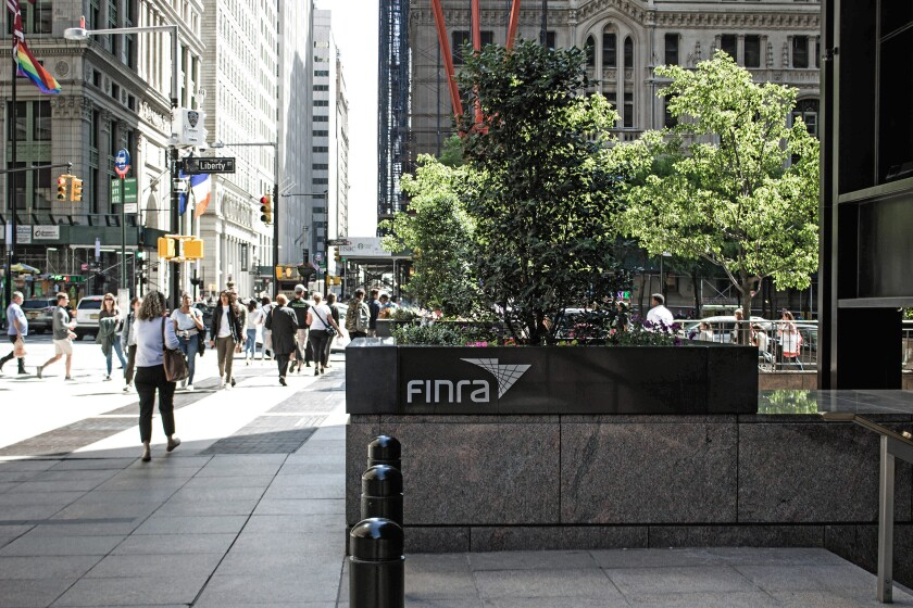 FINRA finra headquarters Financial District Zuccotti Park regulation