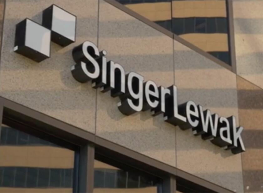 SingerLewak building logo