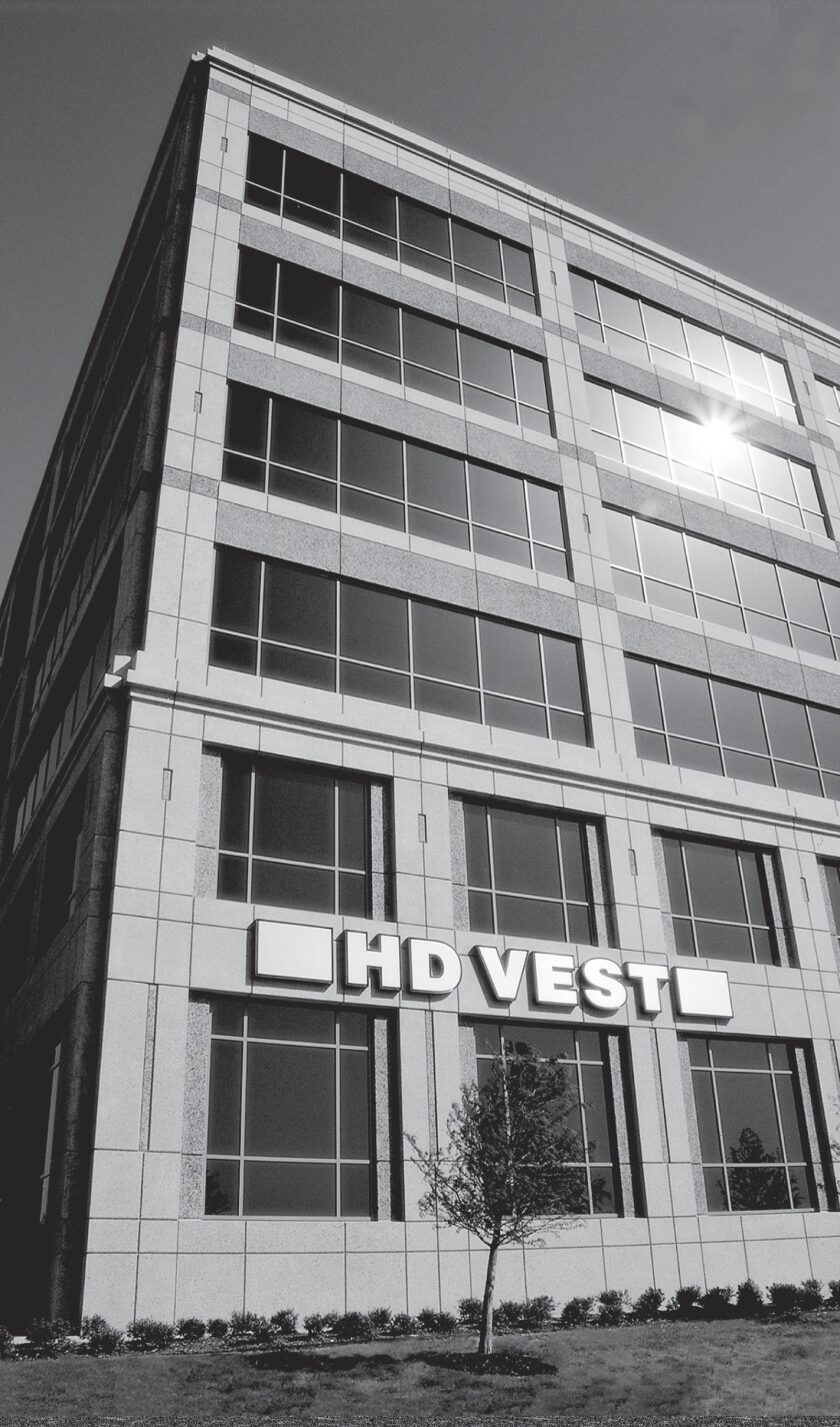 HD Vest building black and white vertical photo