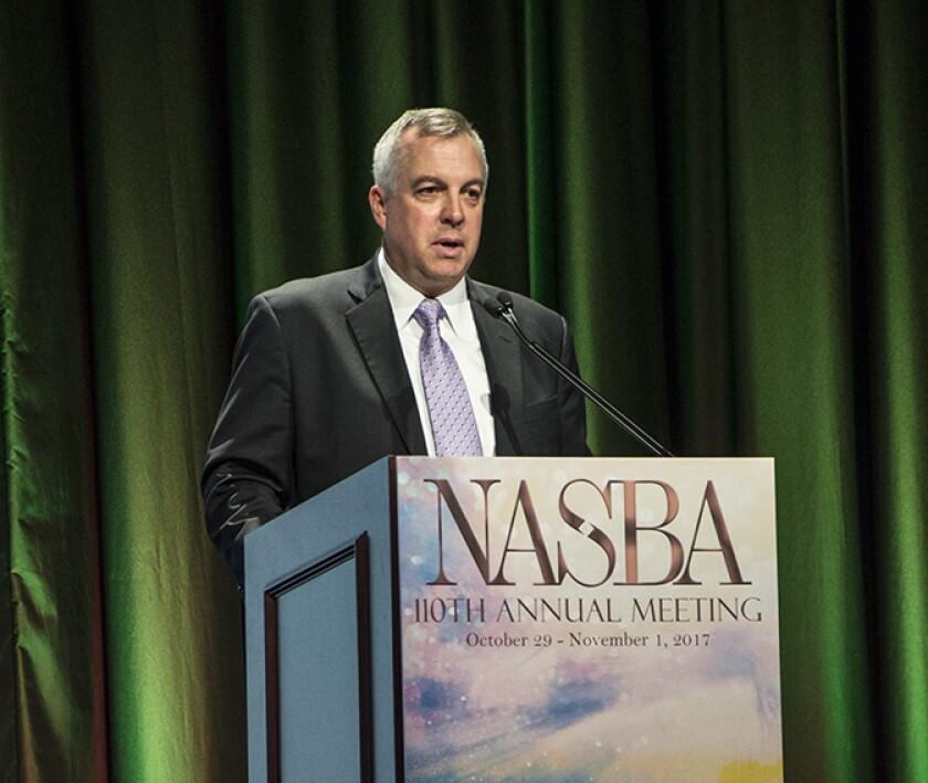 AICPA's Michael Decker at the 110th annual meeting of NASBA