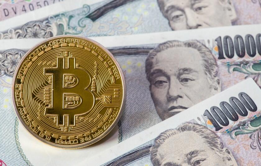Bitcoin and Yen notes