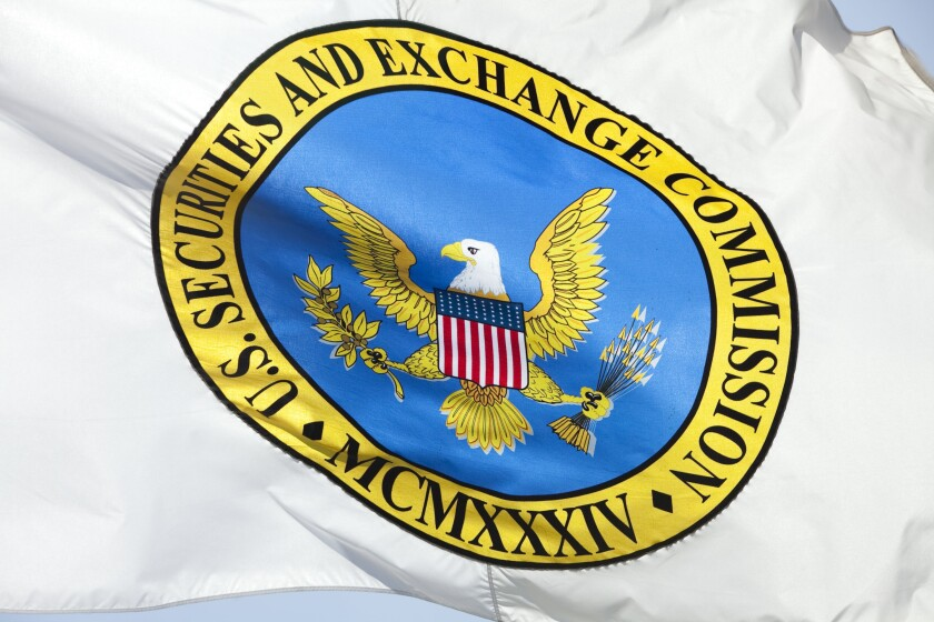 SEC flag by Bloomberg News