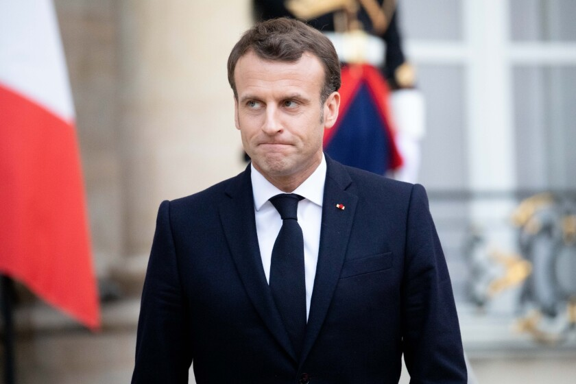 Emmanuel Macron at the Elysee Palace
