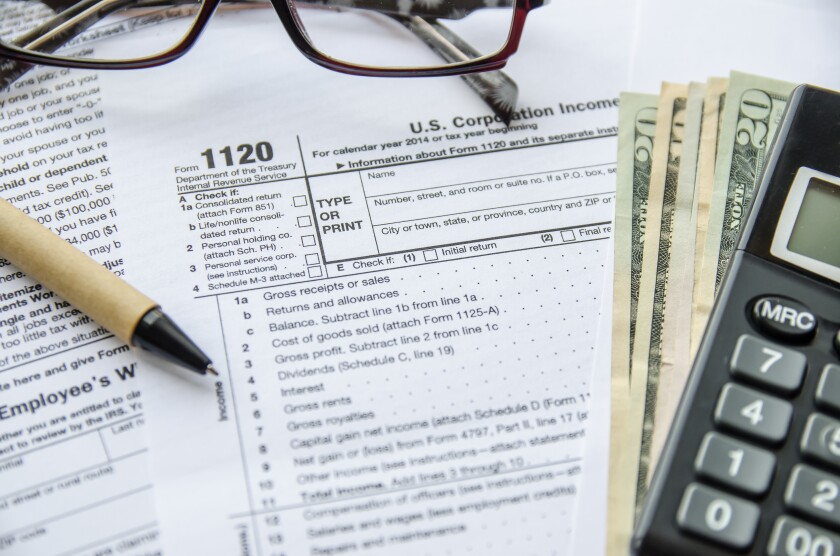 Form 1120 for corporate taxes