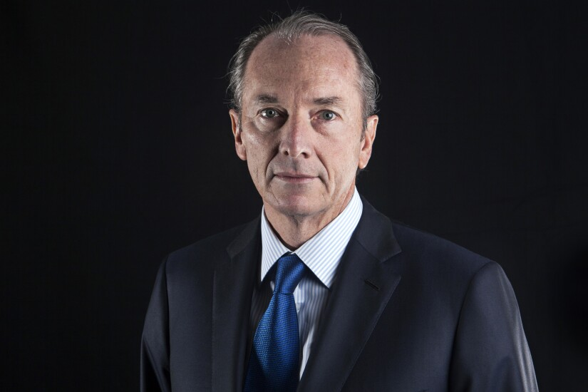 James Gorman, Morgan Stanley CEO, portrait before a Bloomberg Television interview in Beijing, China, on June 1, 2017