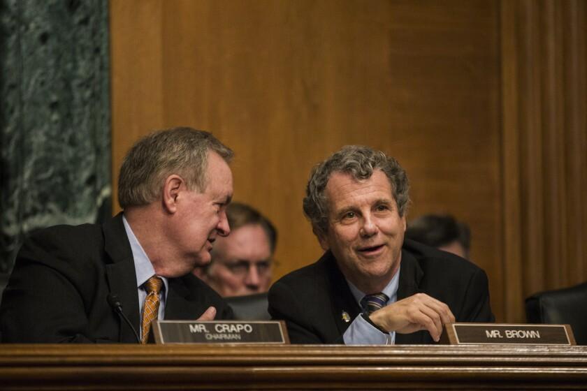 Senate Banking Committee Chairman Mike Crapo and ranking Democratic member Sherrod Brown
