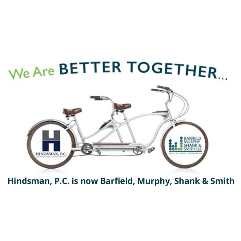 Hindsman merger with Barfield, Murphy, Shank & Smith graphic