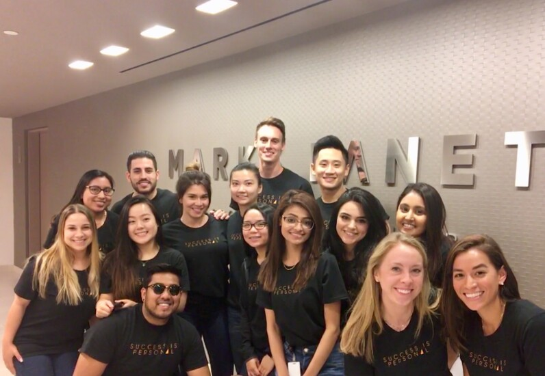 """Marks Paneth employees in New York assembled for a photo when the firm launched its """"Success is Personal"""" branding campaign."""