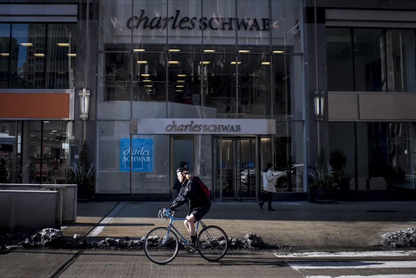 Charles Schwab custodian biker Bloomberg April 22, 2019