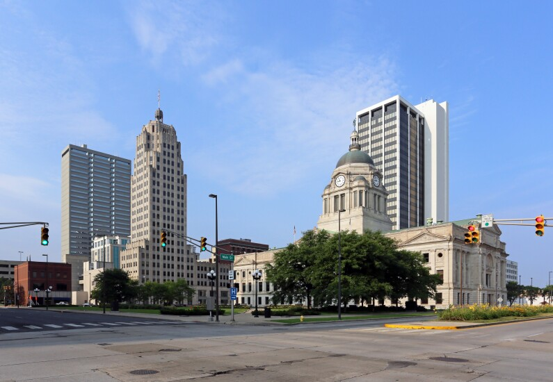 Skyline of Fort Wayne, Indiana