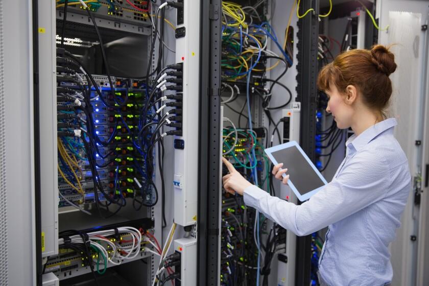 woman data center