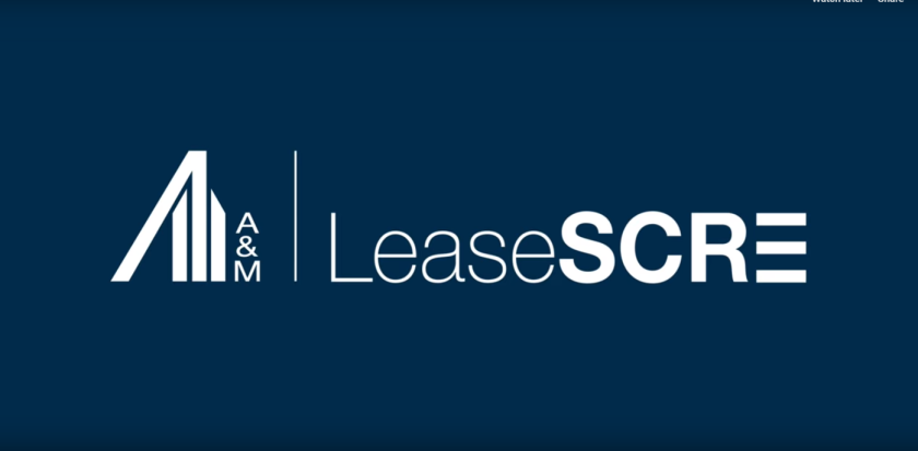 LeaseSCRE screen