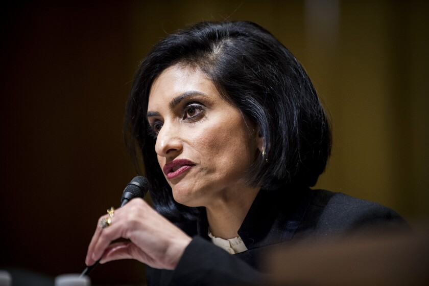 Centers for Medicare & Medicaid Services administrator Seema Verma