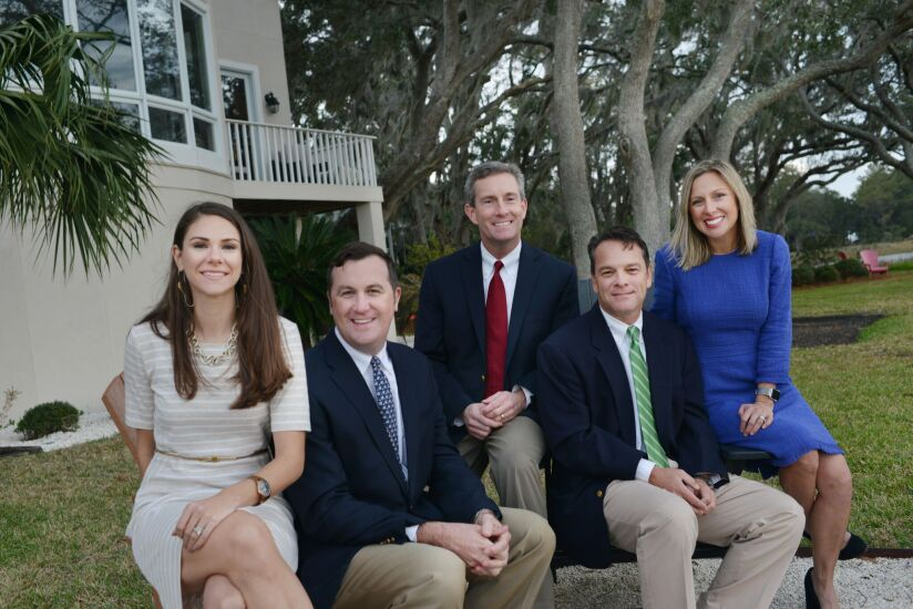 : A former Merrill Lynch team left the firm to found an independent practice, Sound View Wealth Advisors. From left to right: Lydia Moore, Eddie Ambrose, Emerson Ham III, Kelly Bouchillon and Melissa Bouchillon.