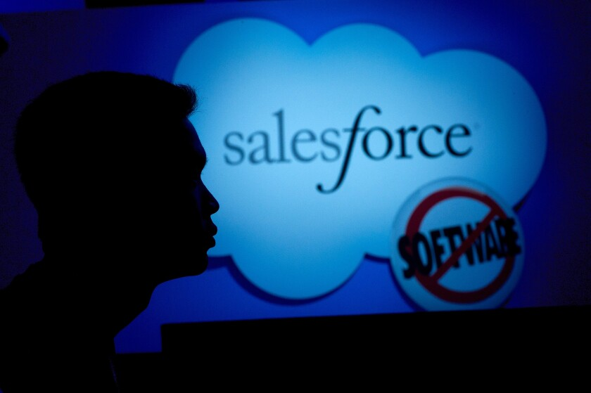 Salesforce logo conference 2011 Bloomberg News