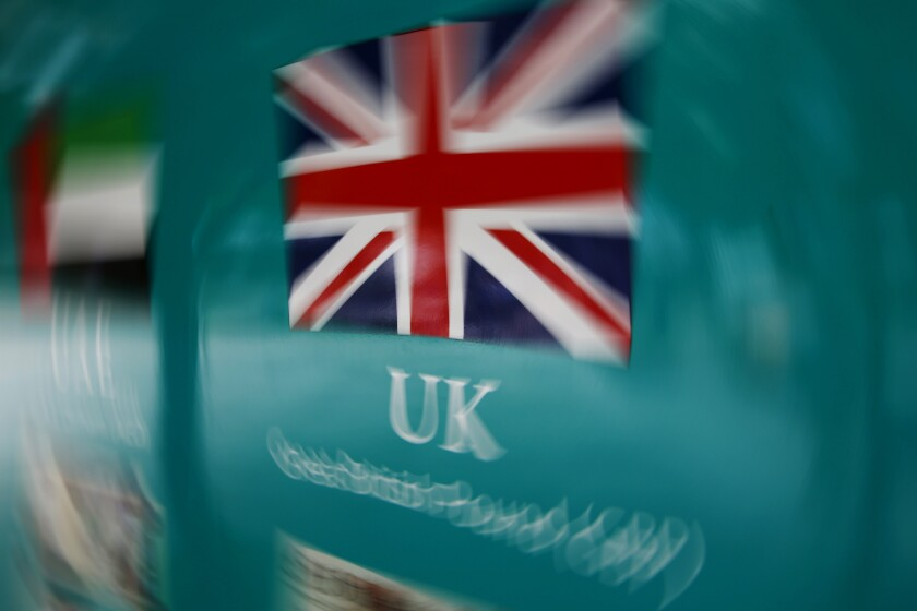 Union Jack Flag - Bloomberg News