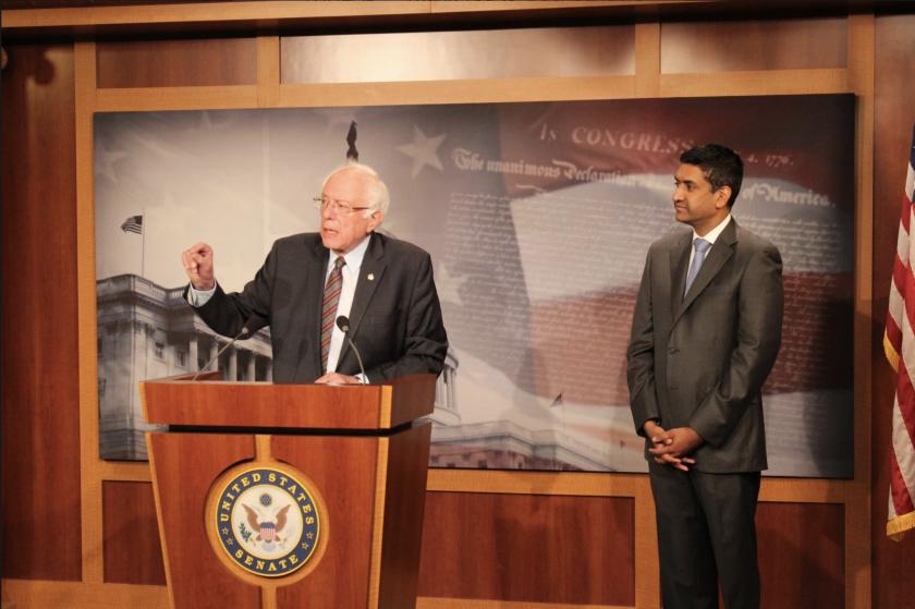 Senator Bernie Sanders, I-Vt, and Rep. Ro Khanna, D-Calif., talk about the BEZOS Act