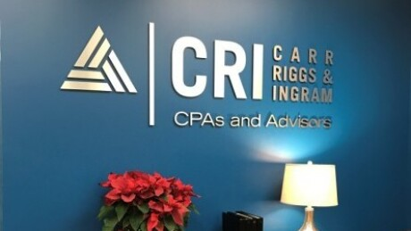Carr Riggs & Ingram wall logo