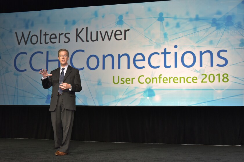 Wolters Kluwer Tax and Accounting North America CEO Jason R. Marx at CCH Connection 2018