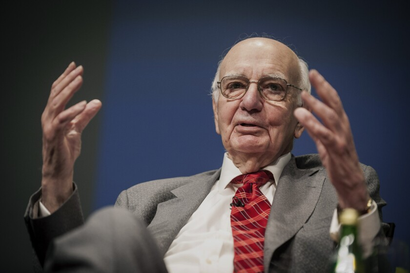 Former Federal Reserver Chairman Paul Volcker