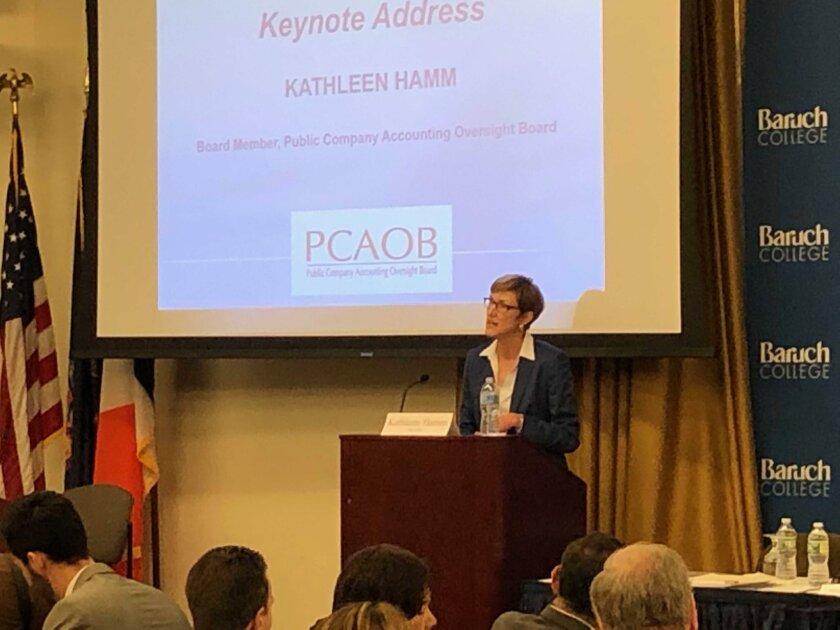 PCAOB board member Kathleen Hamm