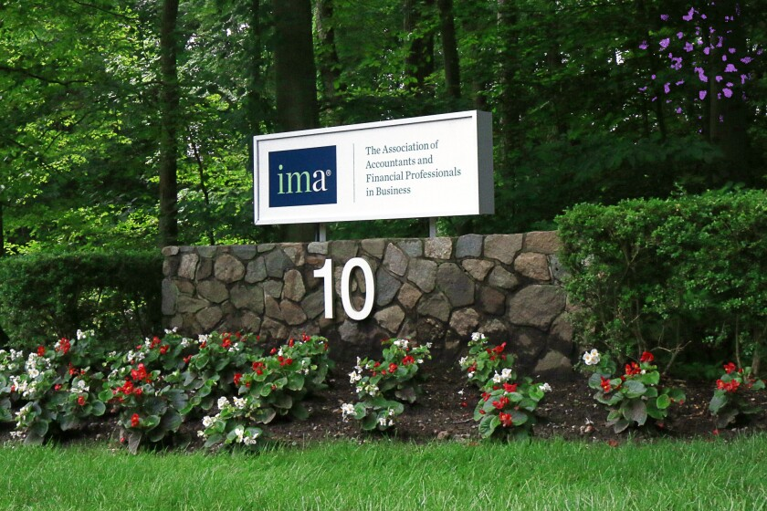 Institute of Management Accountants headquarters sign