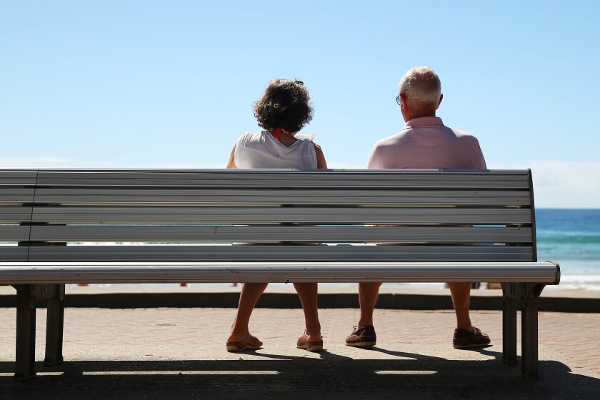 old people on bench