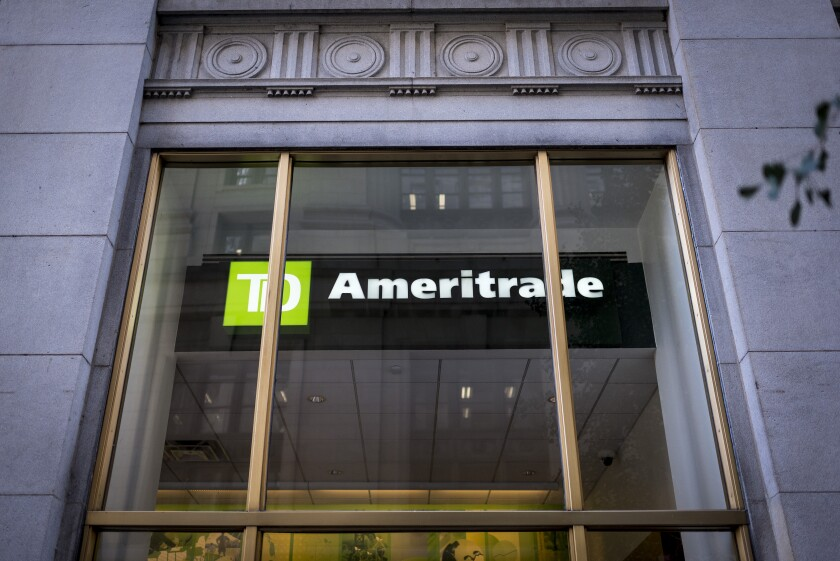 TD Ameritrade window TDAI Bloomberg April 22, 2019