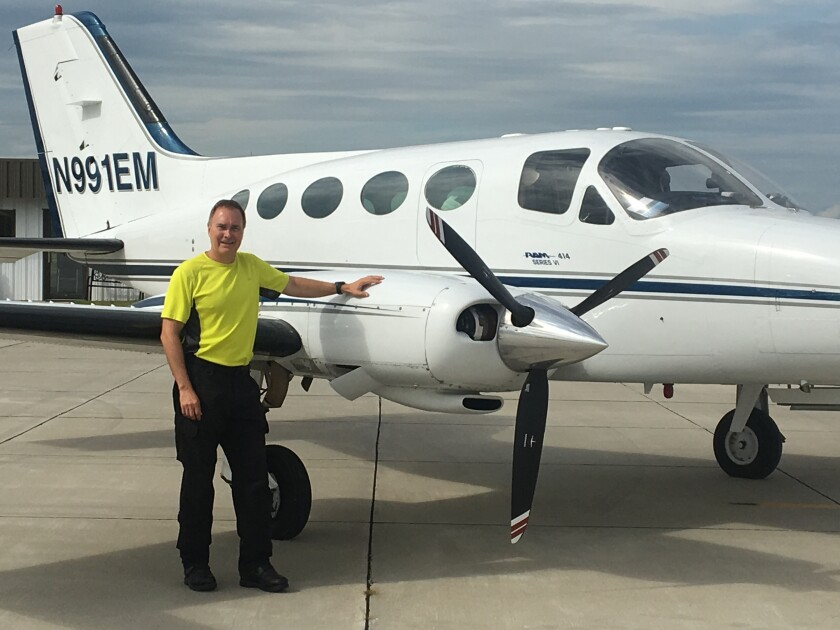 High flyer: Salmen, a 25 year industry veteran, is known for piloting his own pressured twin Cessna to work.