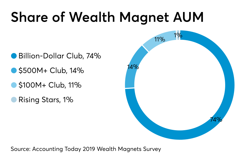 2019 Wealth Magnet share of AUM - CHART