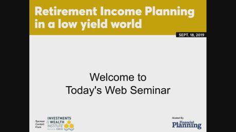 Retirement Income Planning in a low income world