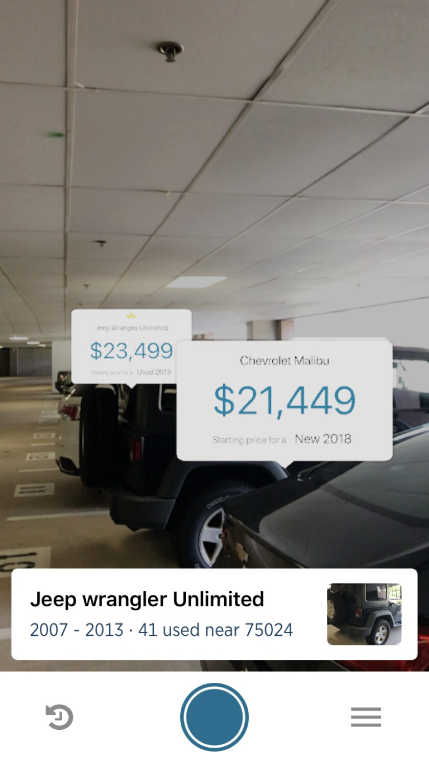 Car Shopping App >> Usaa Road Testing Augmented Reality App For Car Buying