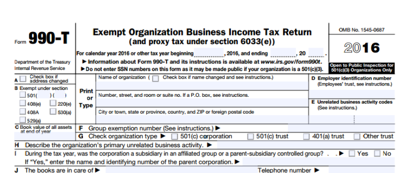 990-T IRS Form