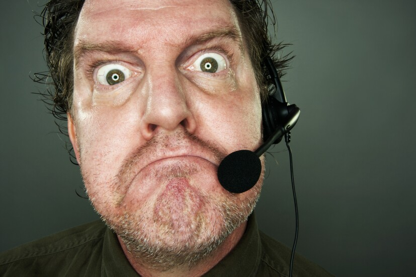Angry telemarketer