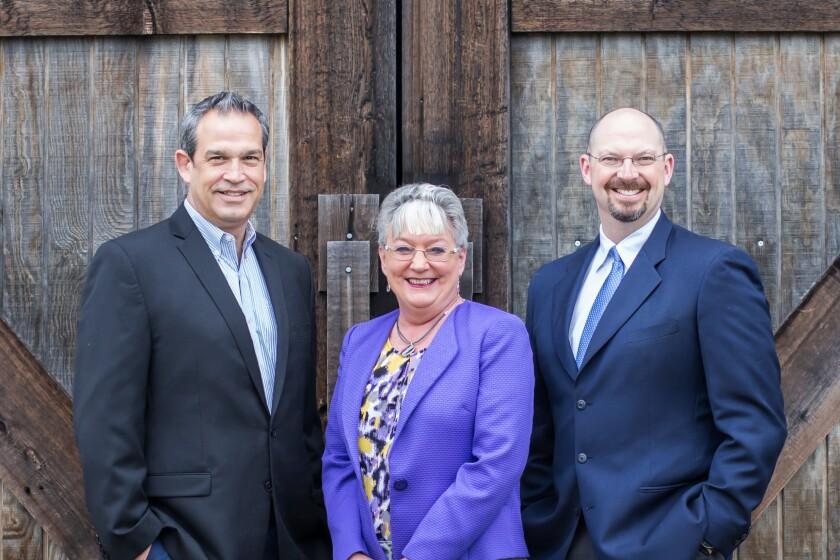 Ameriprise recruits Bill Steele (left), Wendy Hosner, Thomas Hughes