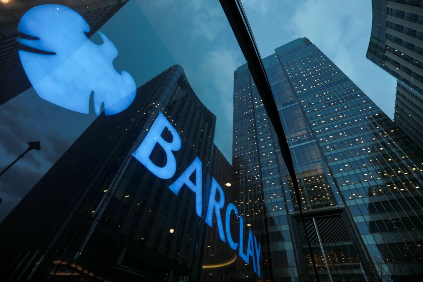 Barclays head offices London Bloomberg News March 2017