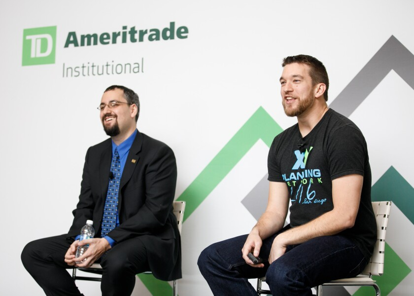 Industry guru Michael Kitces, who, along with his business partner Alan Moore, addressed a standing room only crowd at TD Ameritrade's annual conference. Image: LILA Photo for TD Ameritrade Institutional