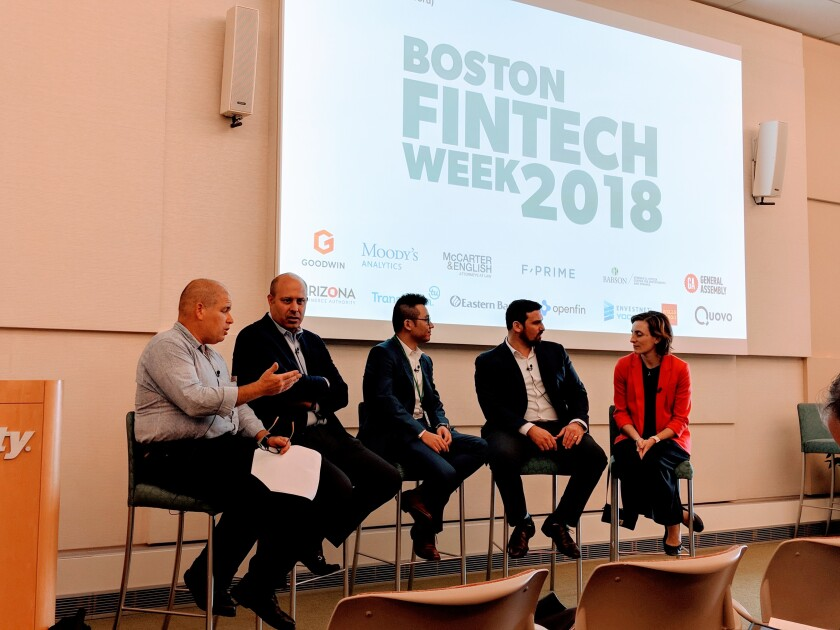 regulatory sandbox panel Boston Fintech Week IAG
