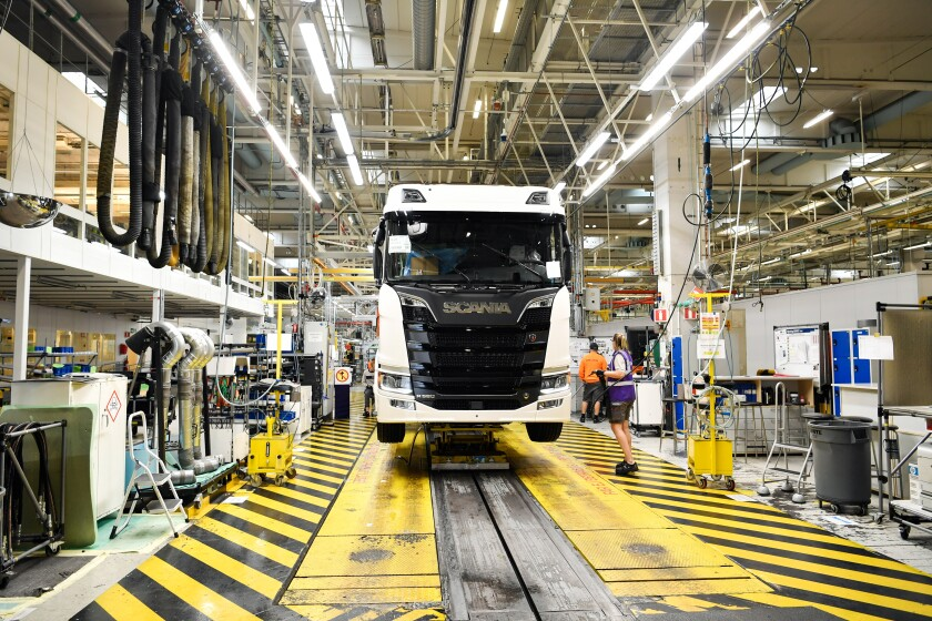 Scania AB Truck Production As Traton SE Set IPO Pricing
