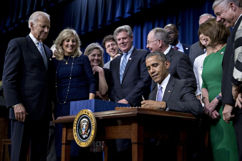 President Obama signs the 21st Century Cures Act
