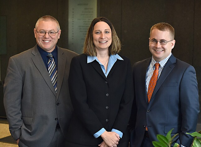 New Kruggel Lawton partners Steve Beasy, Margene Zink and Patrick Lee