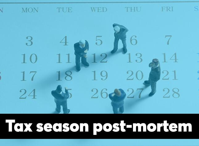 Tax season 2018 post-mortem screen