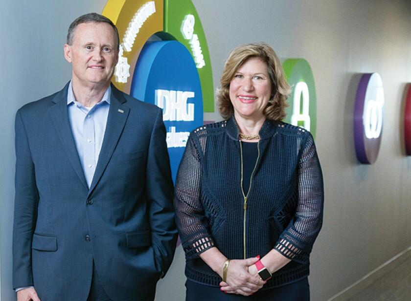 Dixon Hughes Goodman CEO Matt Snow and chief people officer Effin Logue